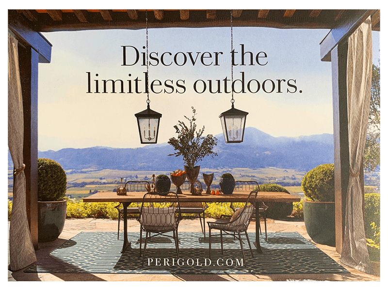 Perigold spring direct mail design front