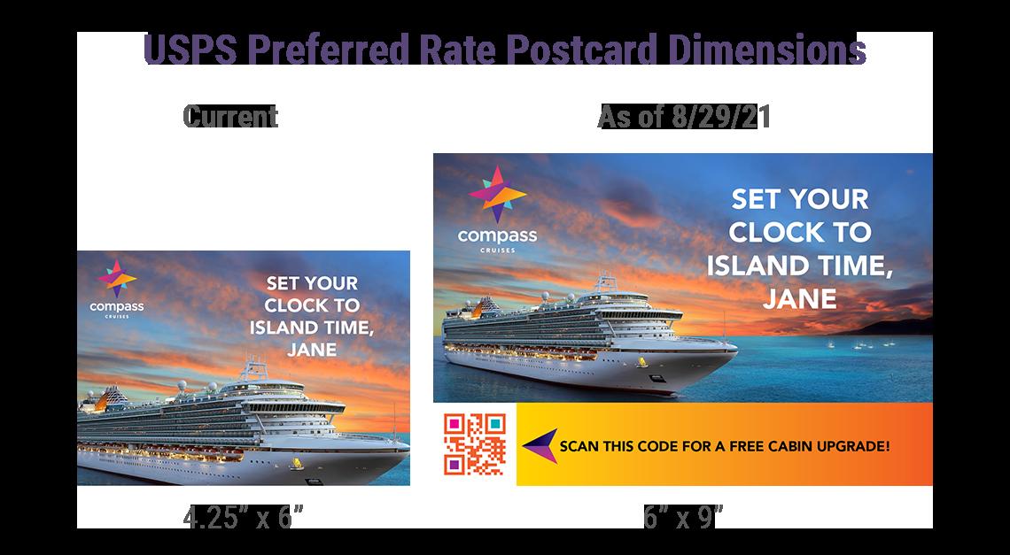 New postcard rate dimensions